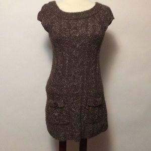 Kenzie Brown Wool Blend Sweater Dress Sz S
